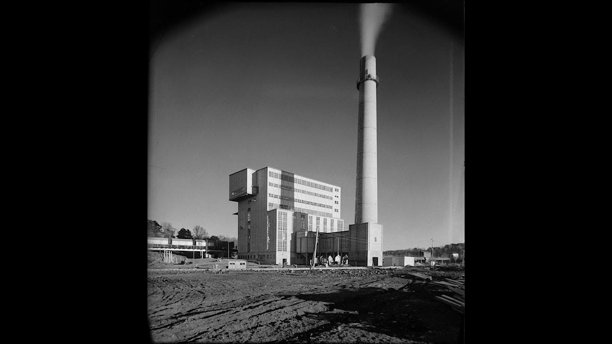 Lövsta sopstations nybyggda funkisanläggning 1938. Foto: Stockholms stad