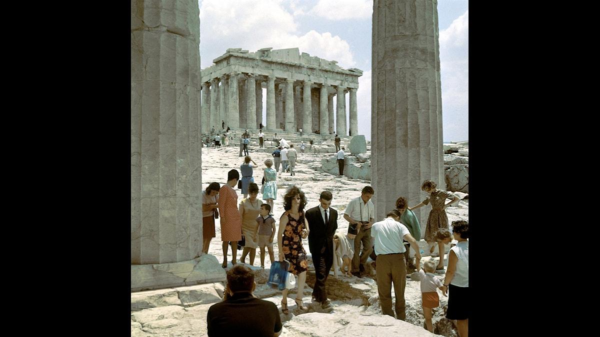 Parthenon väntar fortfarande på sina friser. Foto: C A Peterson/SVT Bild