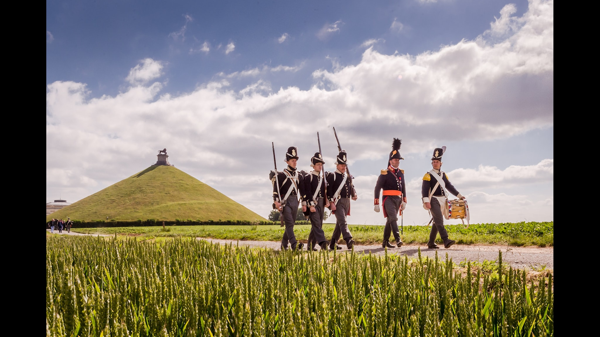 Waterloo förbereder sig för turistanstormning. Foto: AP Photo/Geert Vanden Wijngaert