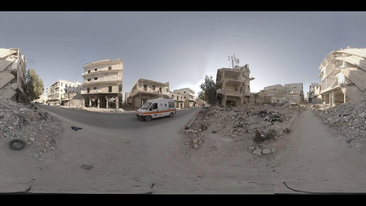 Aleppo är härjat av åratal av inbördeskrig. Men nu planeras för återuppbyggnaden. Foto: Christian Stephen/TT Nyhetsbyrån