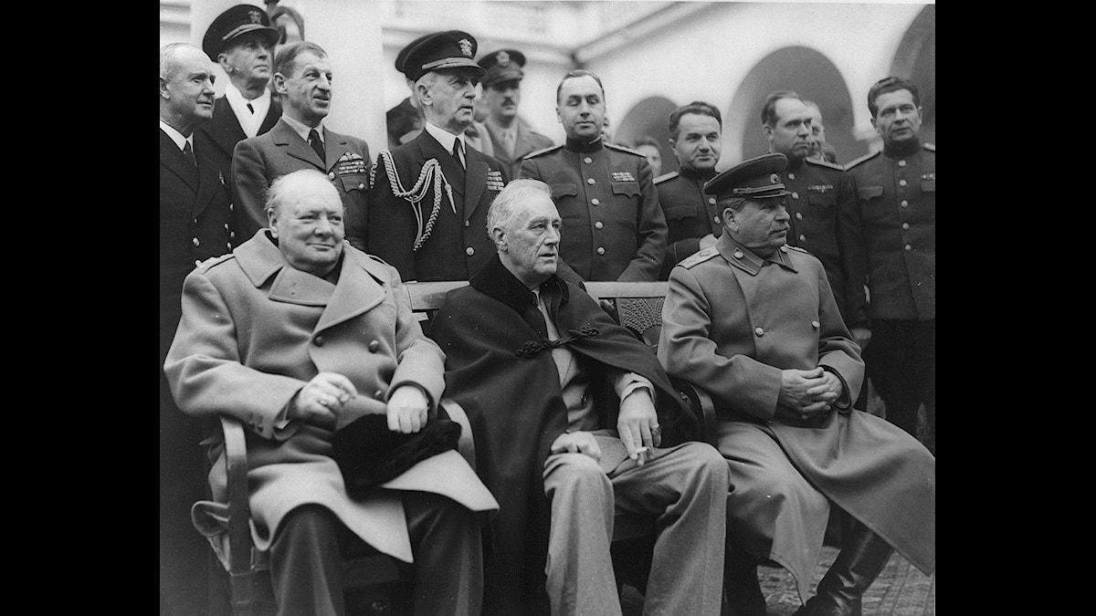 Axla rollen som Churchill, Roosevelt eller Stalin i julklappsspelet Churchill!, Foto: US Library of Congress
