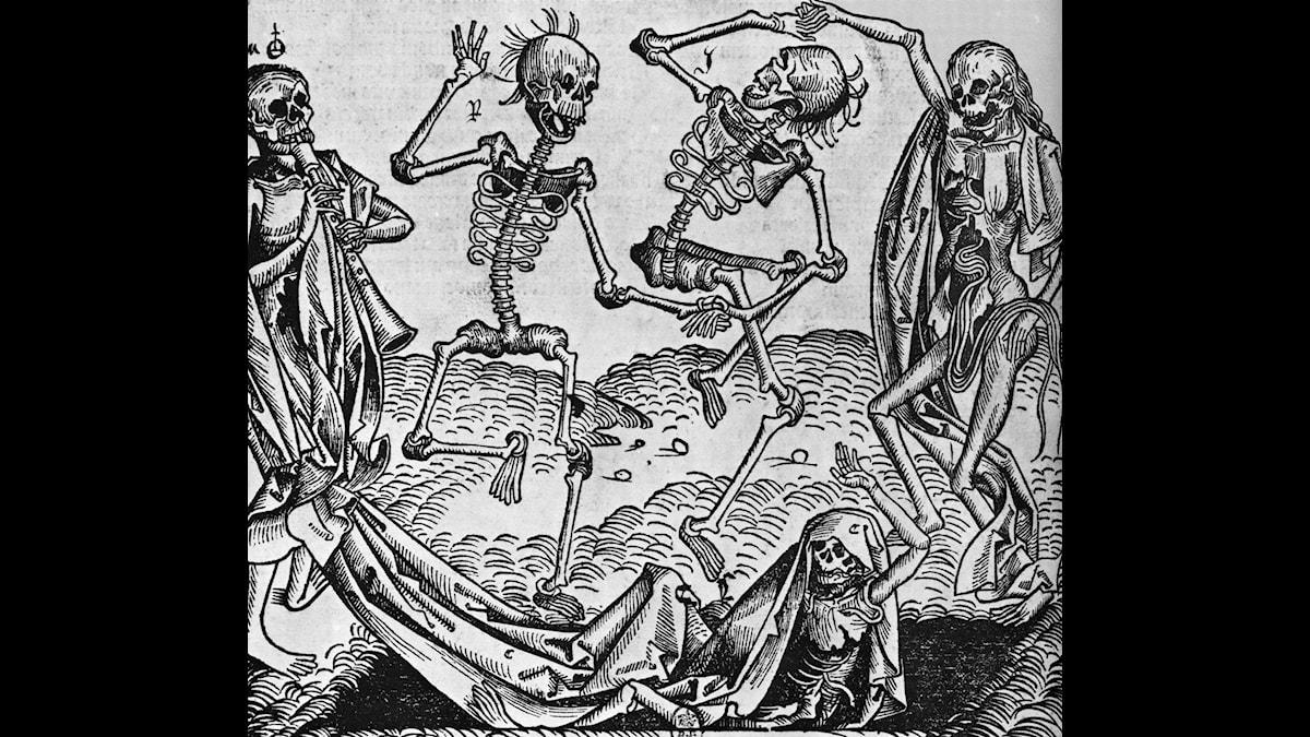 Döden dansade i Stockholm 1710, då 40 procent av stadens invånare dog i pesten.