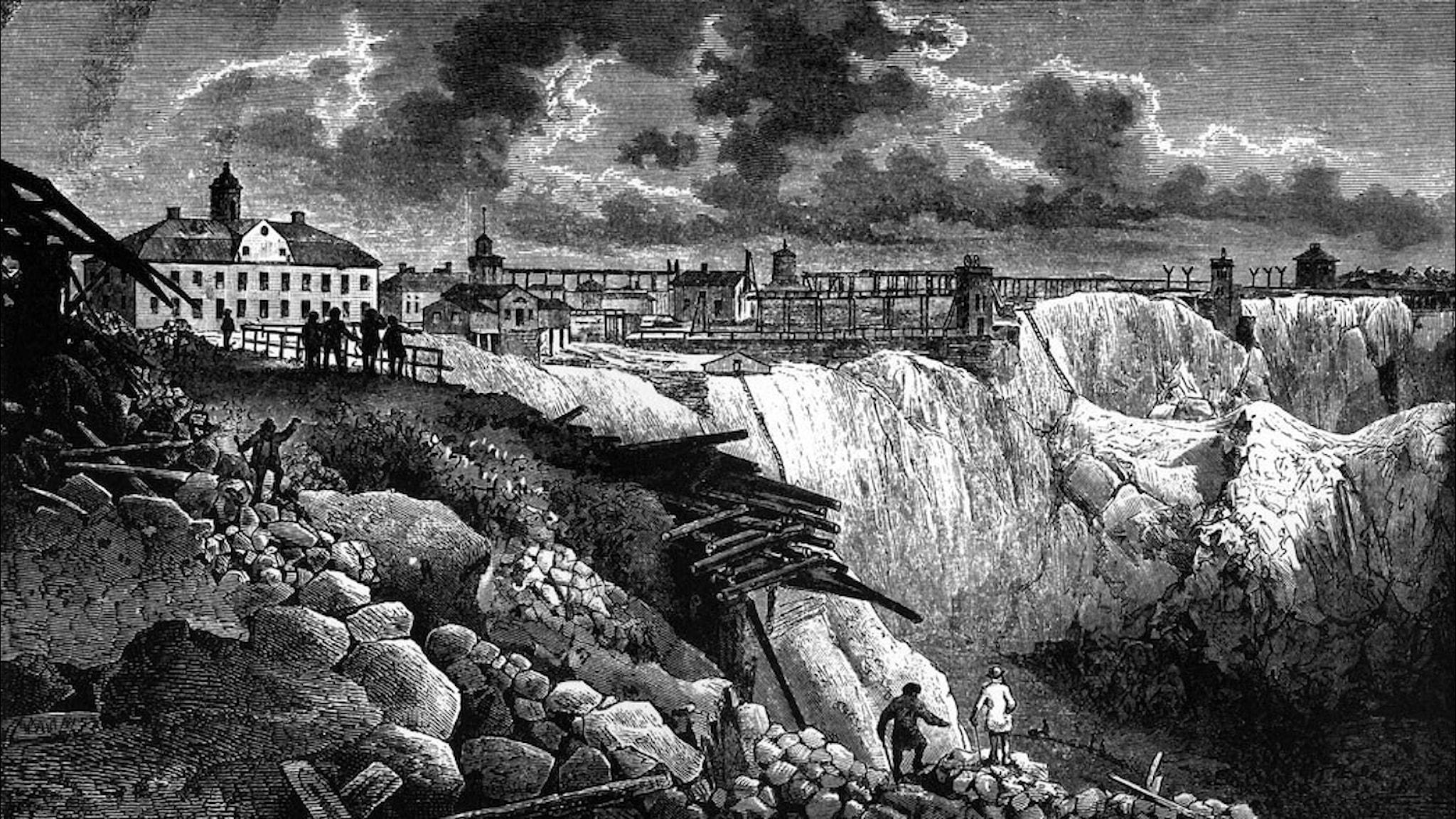 Stora Kopparberget under 1800-talet.