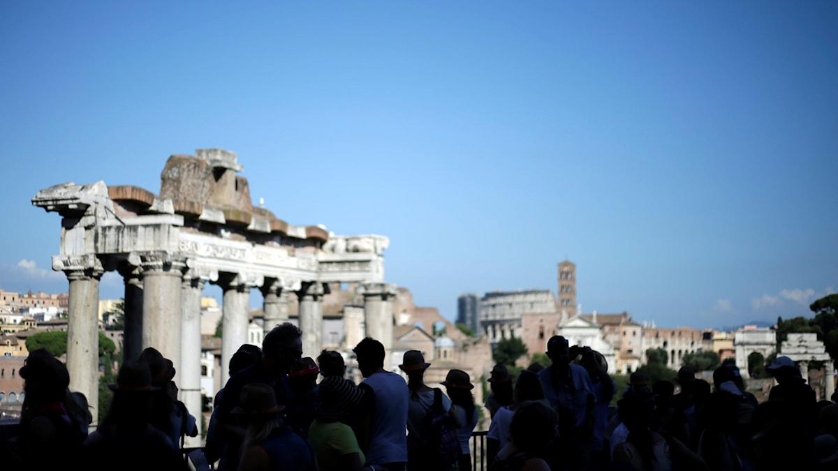 Roms ruiner och kyrkor har lockat besökare i över 1000 år.