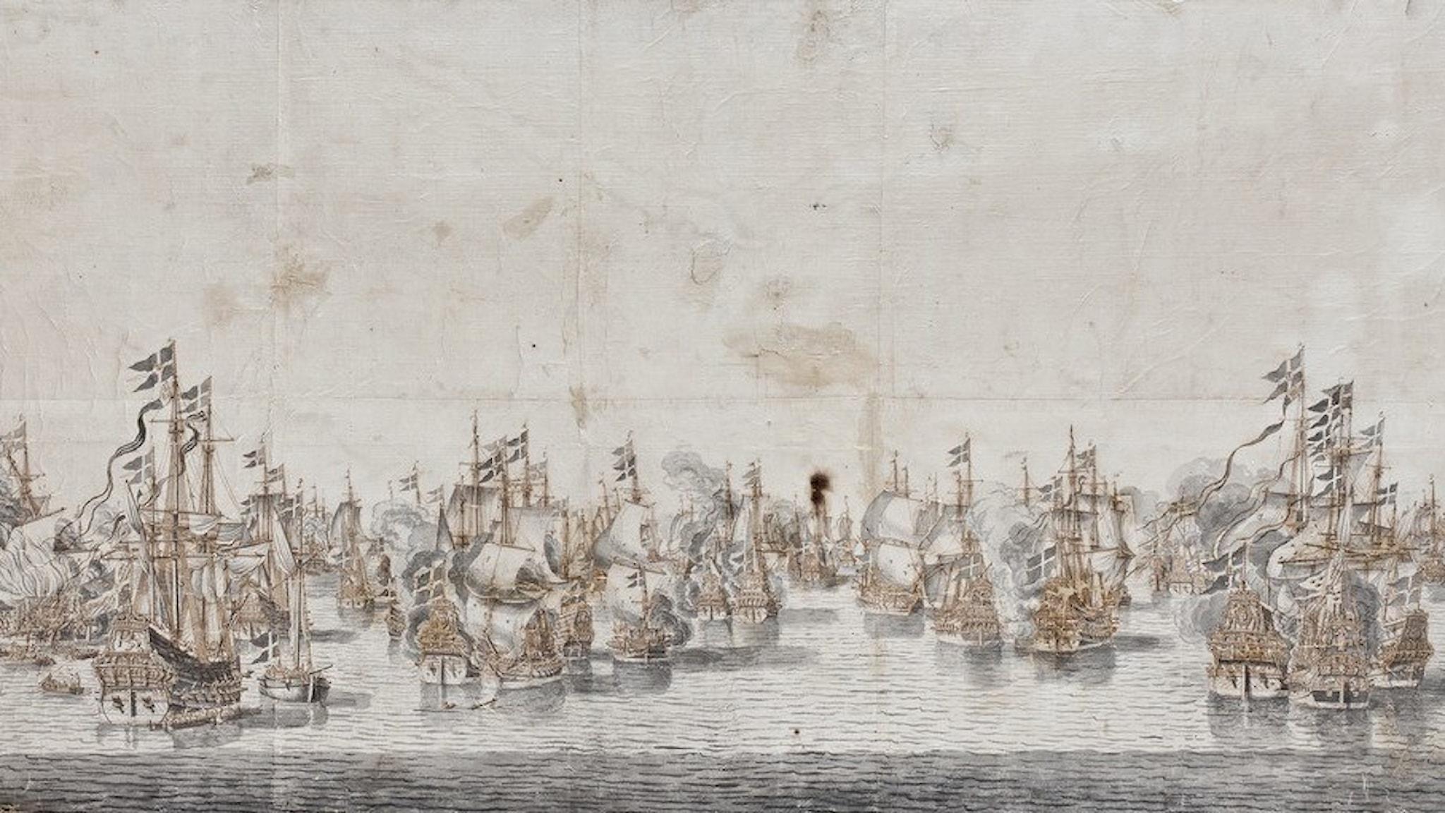 Slaget vid Fehmarn 1644 då bland annat Neptunus och Tu Löver togs av svenskarna.