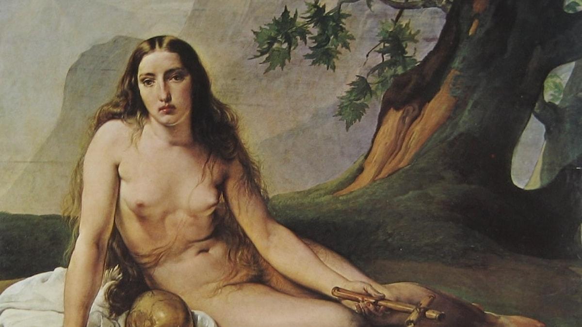 Francesco Hayez bild av Maria Magdalena.