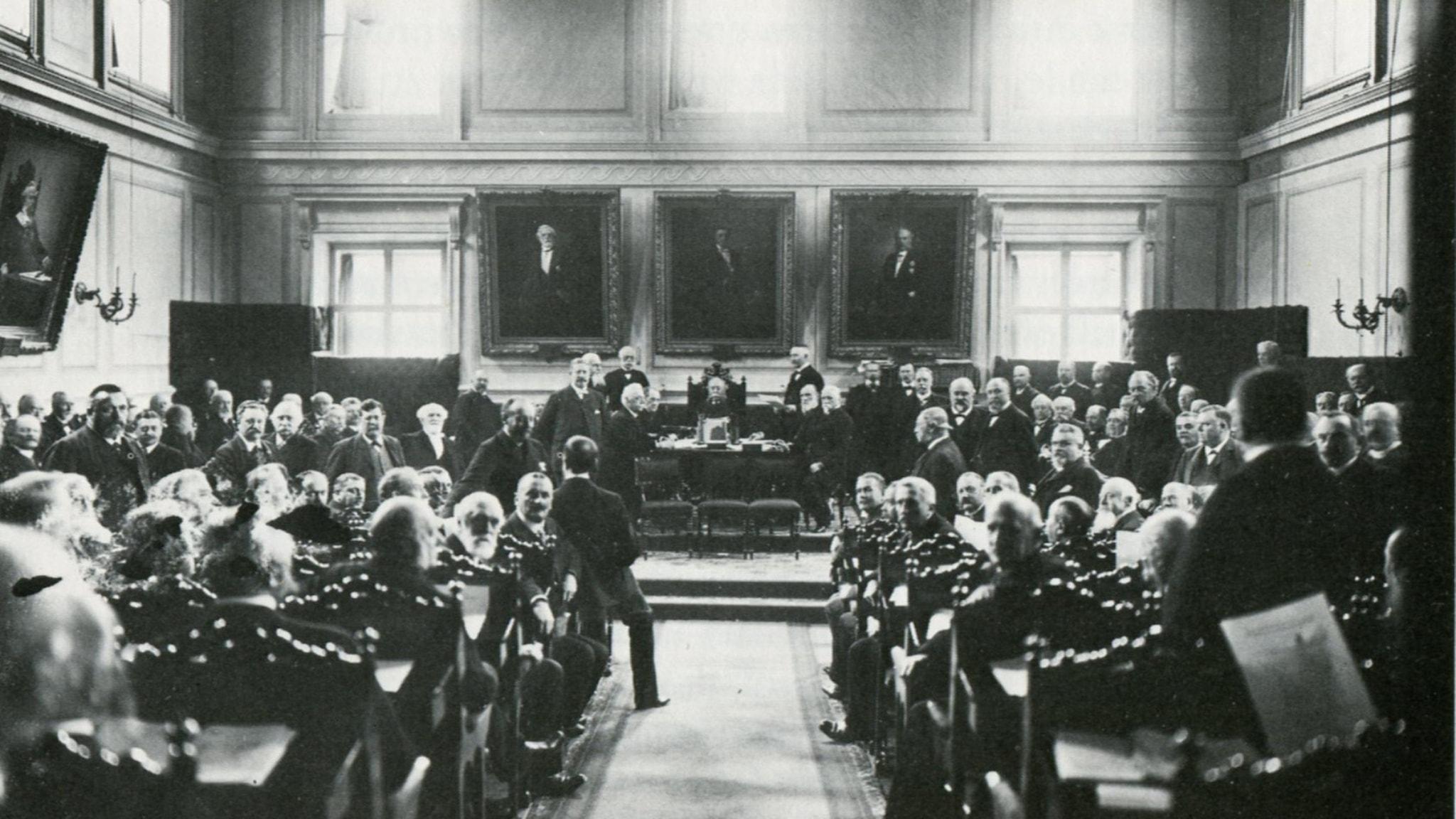 Första kammaren år 1900.
