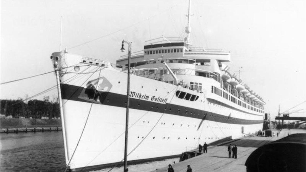 Wilhelm Gustloff i Danzigs hamn.