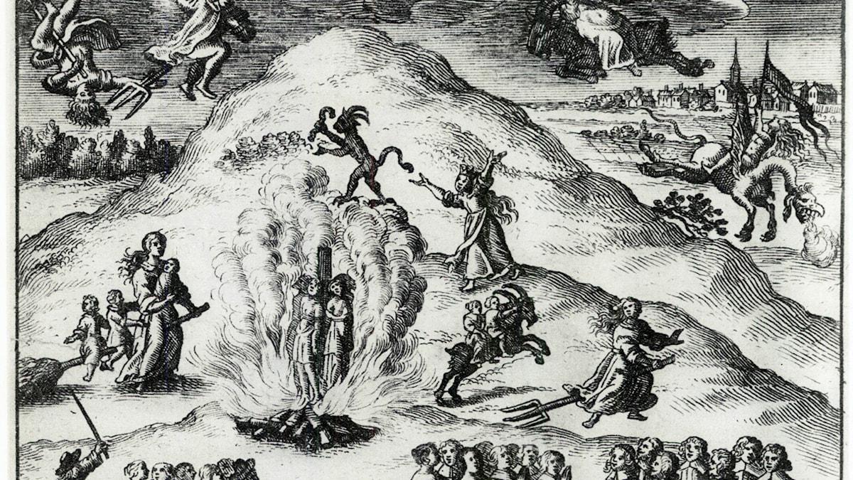 Svensk häxprocess från 1670.