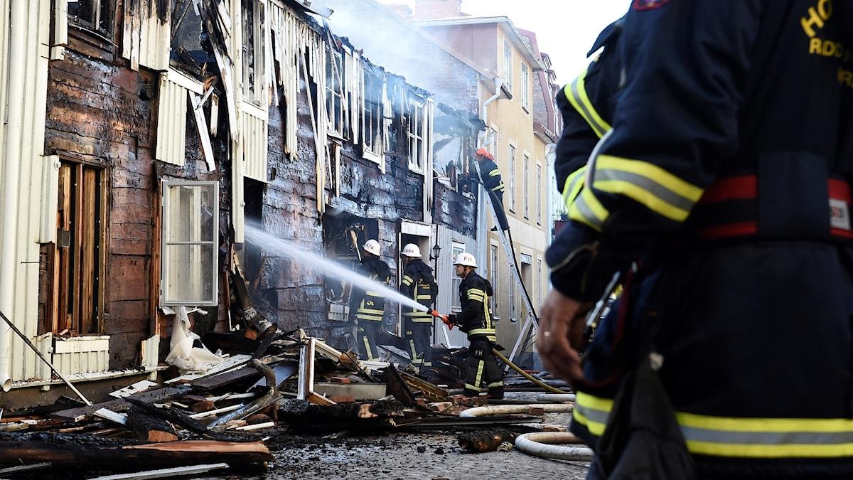 Senaste branden i Eksjö bekämpas.