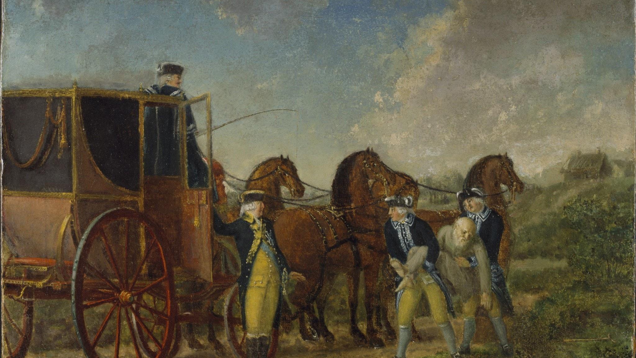 Kung Adolf Fredrik vid Loka Brunn 1862.