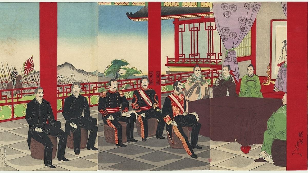 Japan förhandlar om fred med Korea.