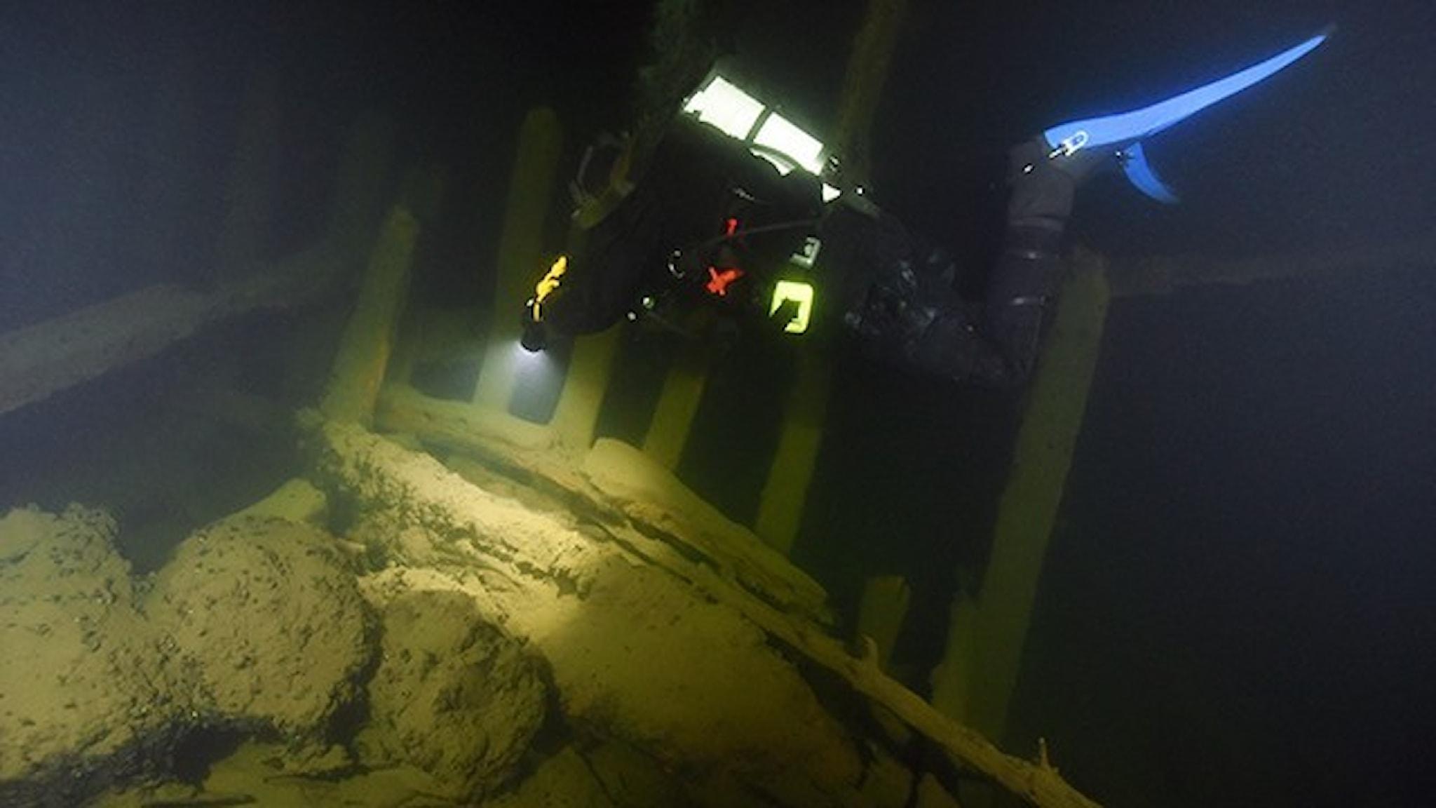 Dykningar på Osmundvraket.