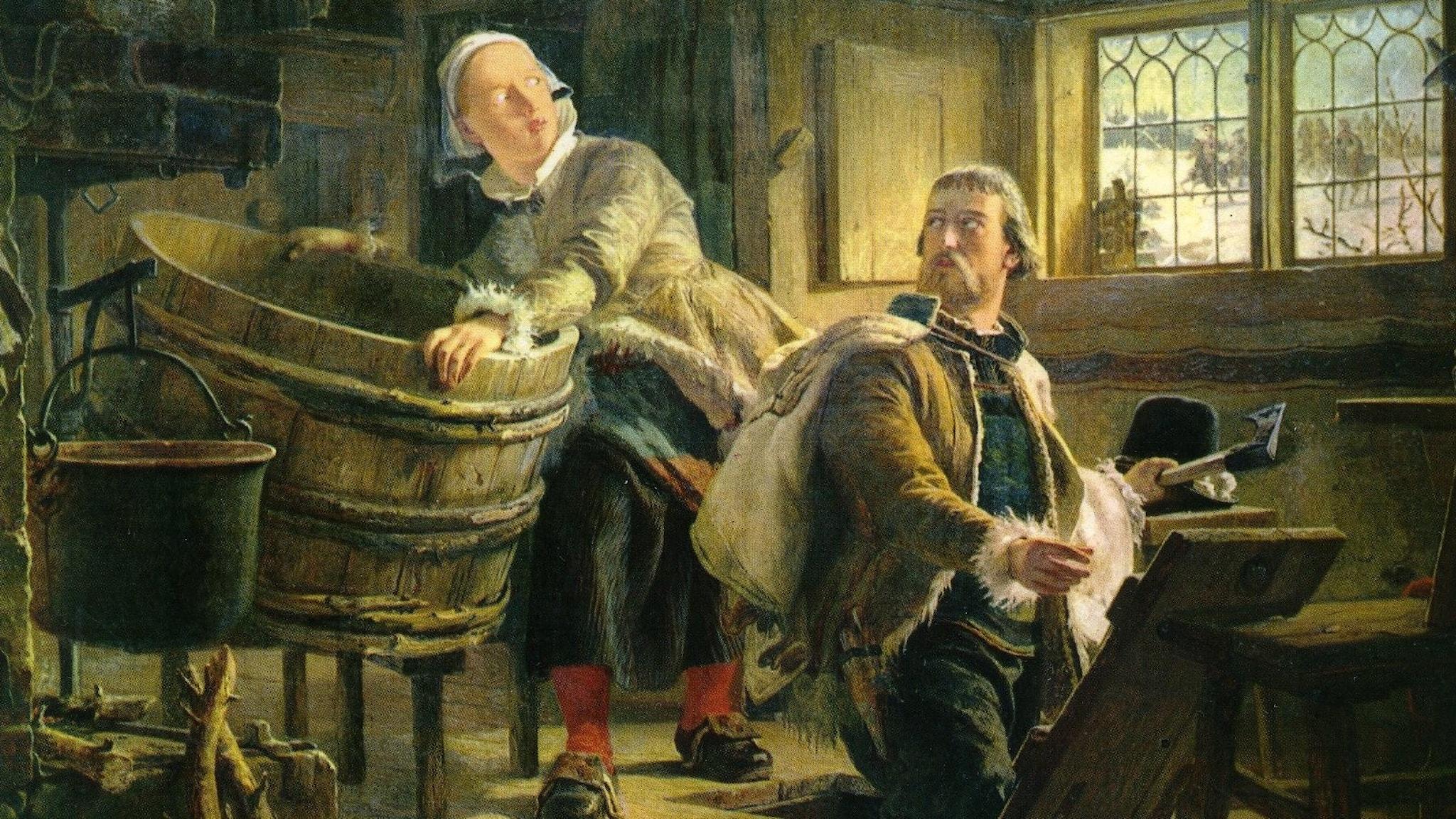 Gustav Vasa gömmer sig för dansken, enligt Johan Fredrik Höckert.