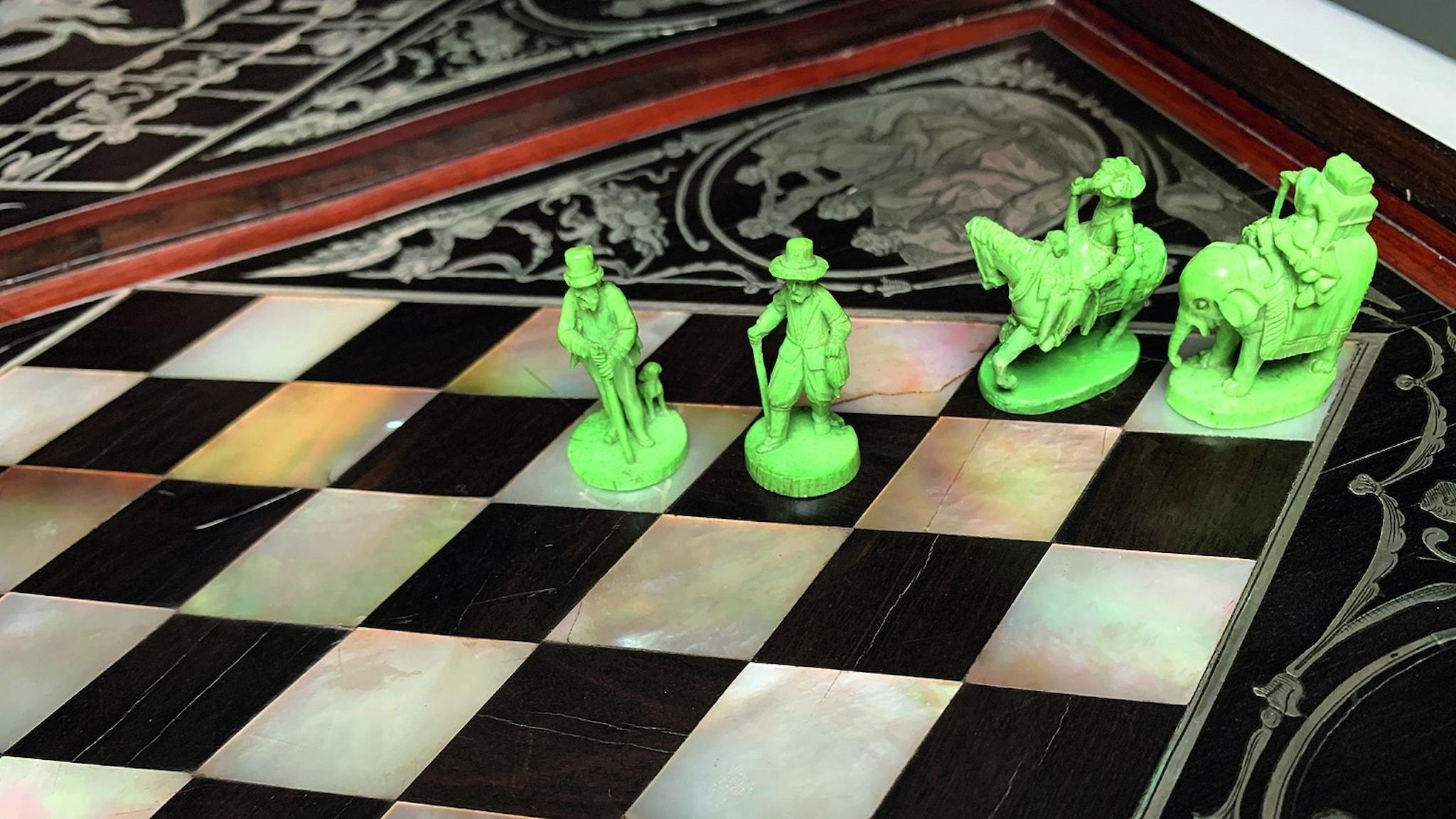 Ett av 1600-talsspelen från Hainhofers konstskåp.
