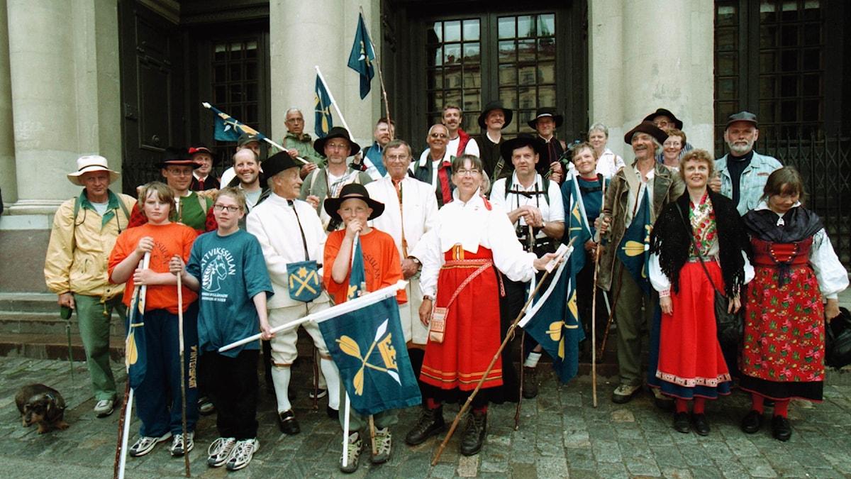 Kullor och masar på besök i Stockholm år 2000.