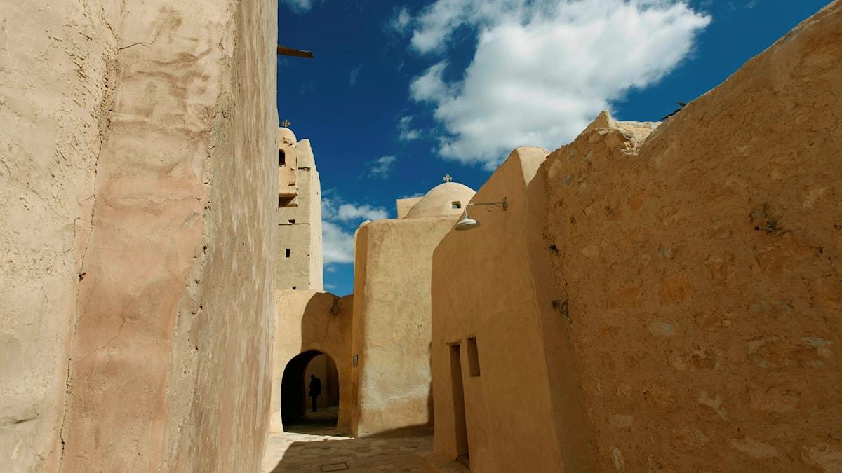 I de äldsta klostren (här Sankt Antonius i Egypten) bevarades den antika bildningstraditionen, visar ny forskning.