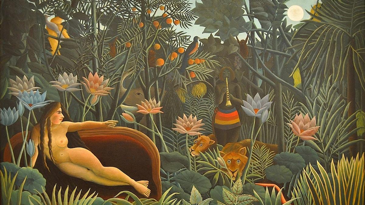 Drömmen av Henri Rousseau från 1910.