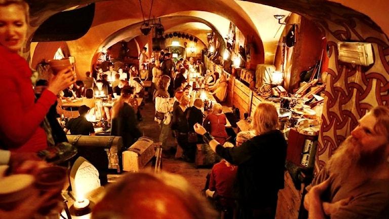 Fest på vikingarestaurangen Aifur.