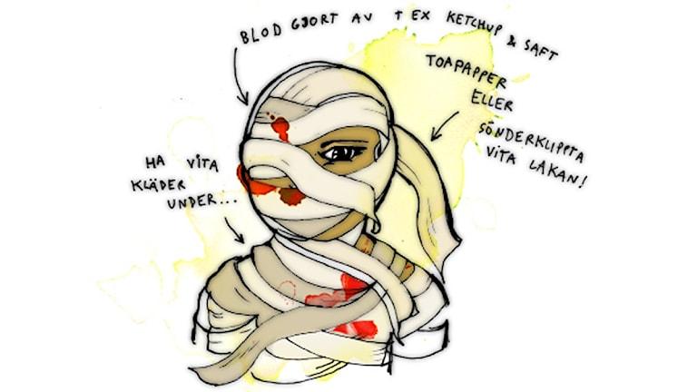 Så här blir du en mumie. Illustration: Sveriges Radio