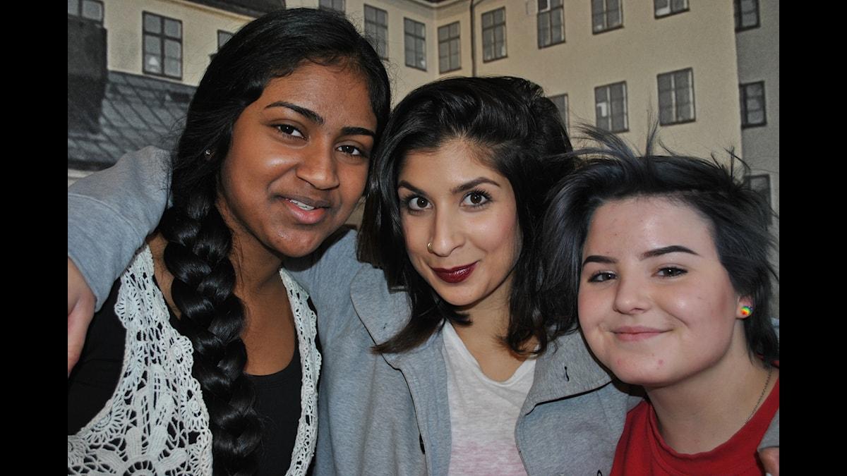 Deluxsana Mahalingham, Soraya Hashim och Agape Browall
