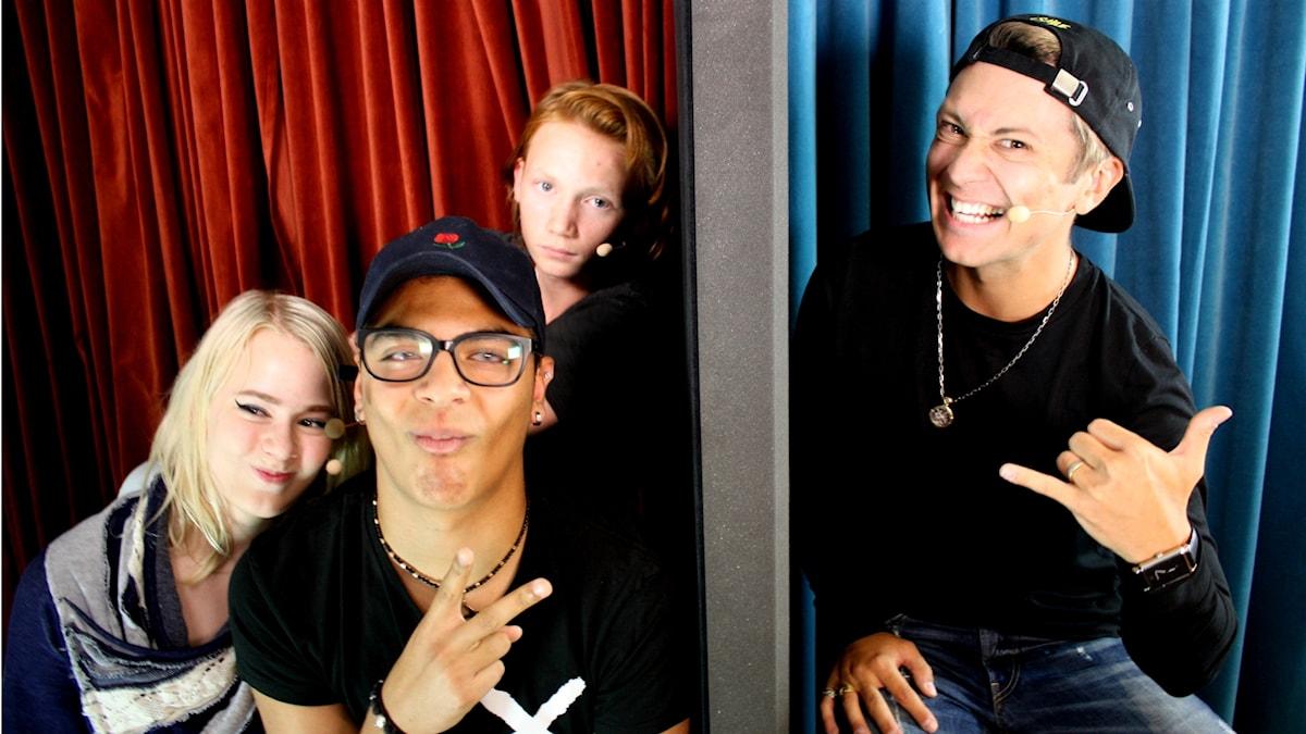 Youtubern Vlad Reiser och panelen bestående av Antonia Lindholm, Fernando Herrera och Jack Lindwall.