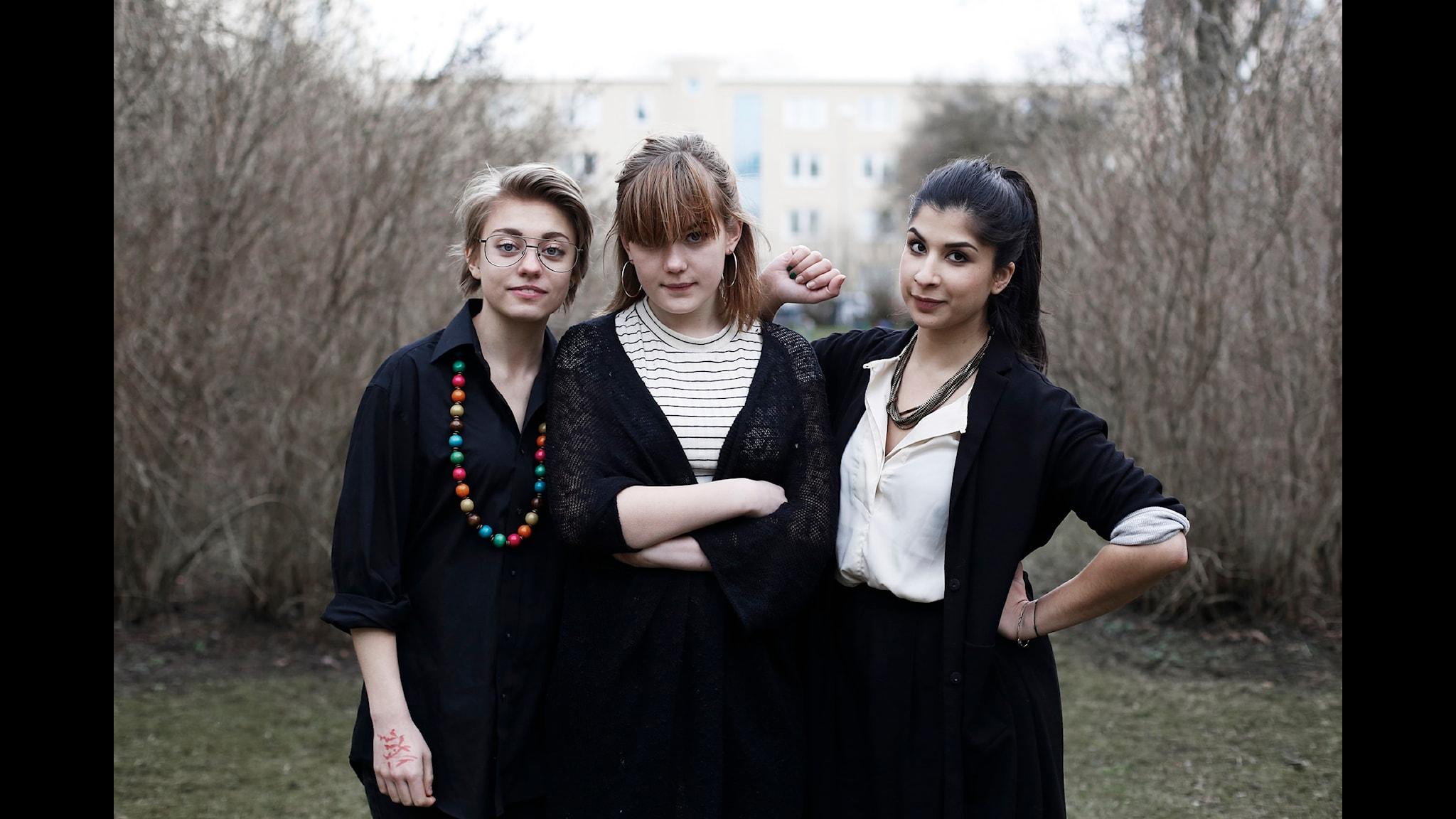 Maja Johansson, Ella Östlund och Soraya Hashim