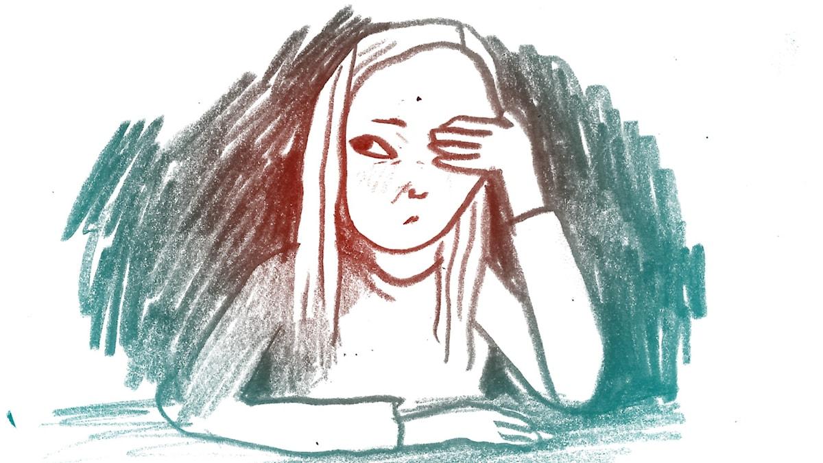 Pinsamt. 1000 modiga frågor, illustration: Matilda Ruta