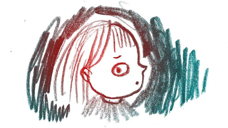 Rädd. 1000 modiga frågor, illustration: Matilda Ruta/SR