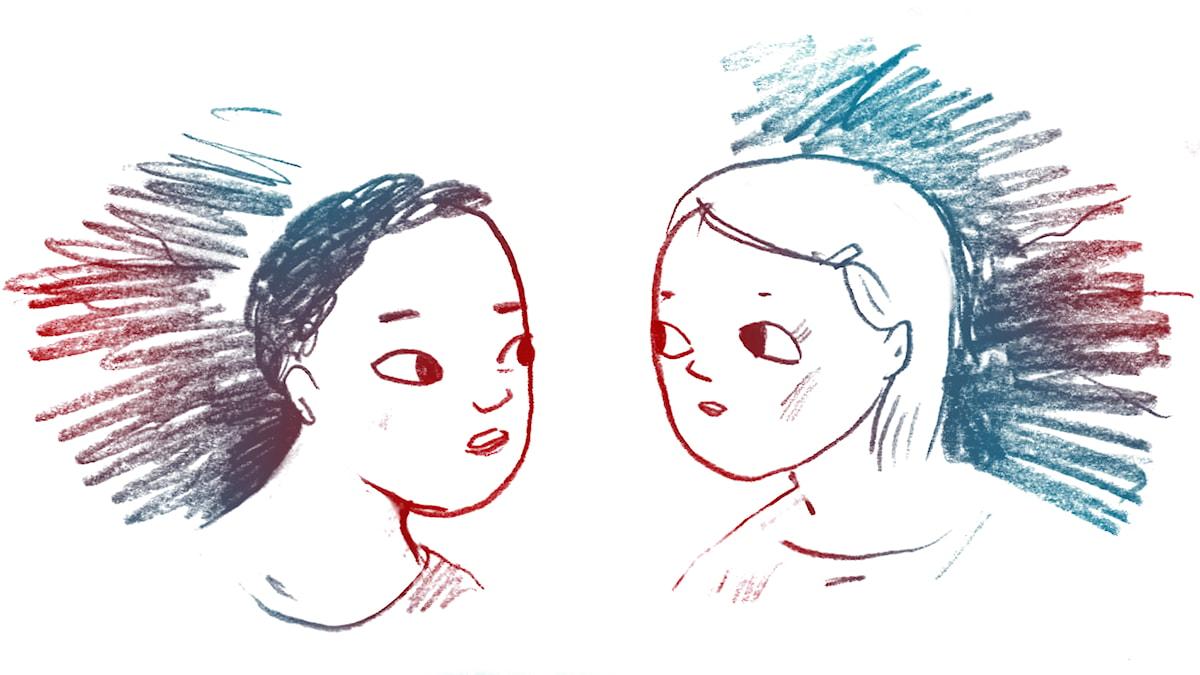 Gillar hon mig? 1000 modiga frågor, illustration: Matilda Ruta