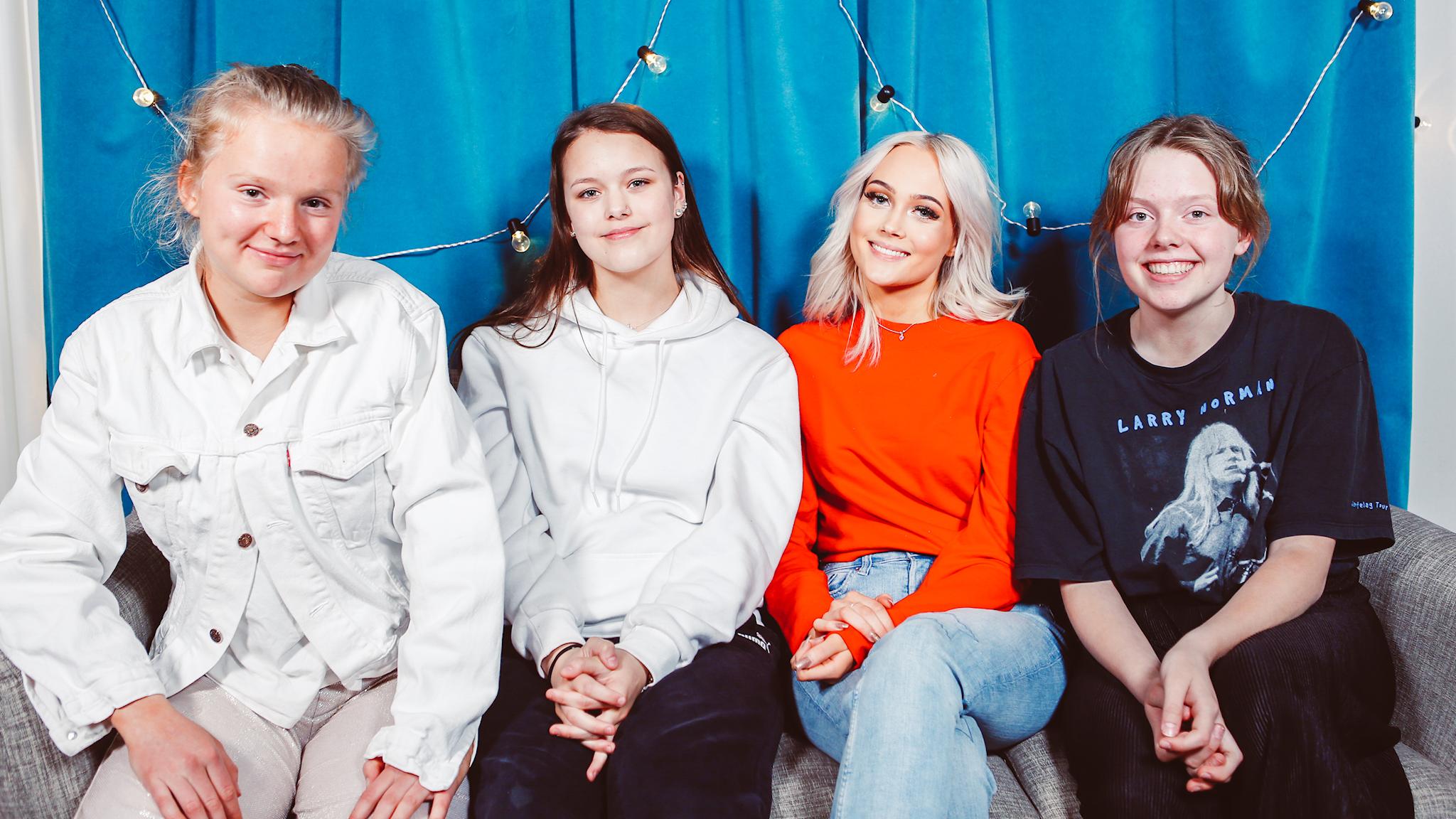 Panelen och tjejerna från SVTs serie MENS