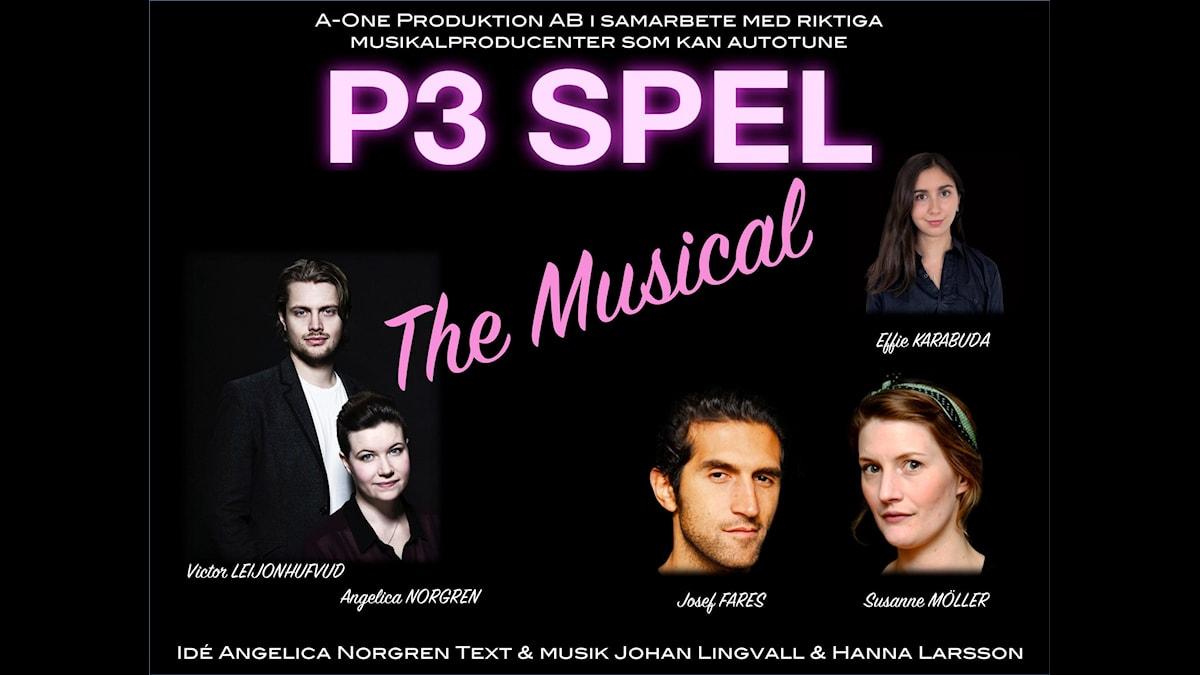 P3 Spels musikalaffisch