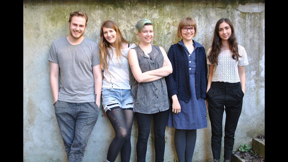 Tobias Norström, Susanne Möller, Angelica Norgren, Sara Bergmark Elfgren och Effie Karabuda