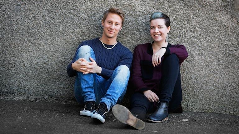 "Joakim ""Akke"" Akterhall och Angelica Norgren. Foto: Henrik Brunnsgård/Sveriges Radio"