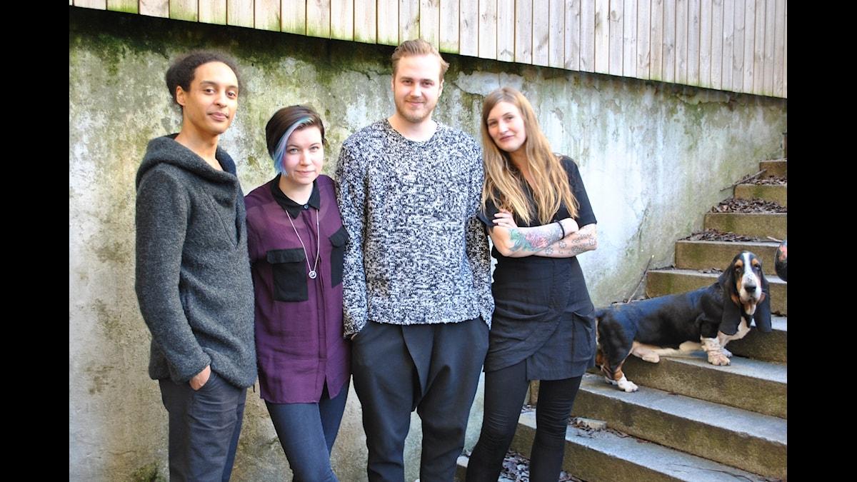 Victor Linnér, Angelica Norgren, Tobias Norström, Susanne Möller (& Brick)
