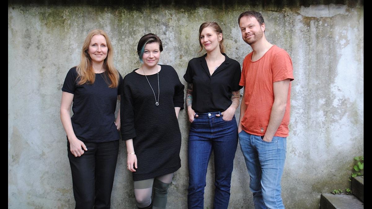 "Malin ""E-Sportmamman"" Kaldo, Angelica Norgren, Susanne Möller och Anton Berg"