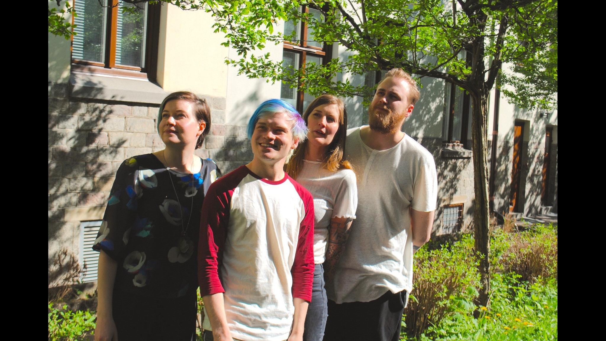 Angelica Norgren, Sebastian Krantz, Susanne Möller och Tobias Norström