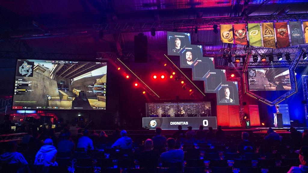 Dreamhack visar en match i CS:GO.