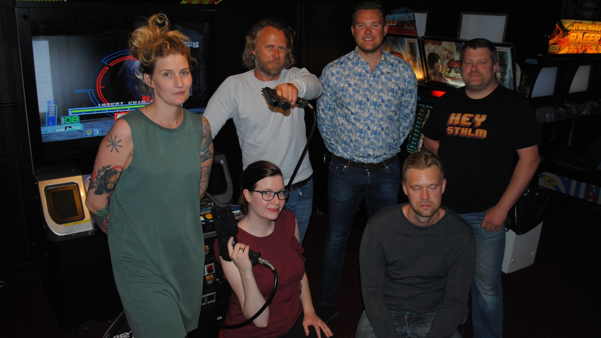 P3 Spel tillsammans med vinnarna av Musikhjälpenauktionen