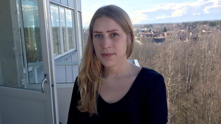 Sandra Höglander. Foto: Olov Antonsson/Sveriges Radio