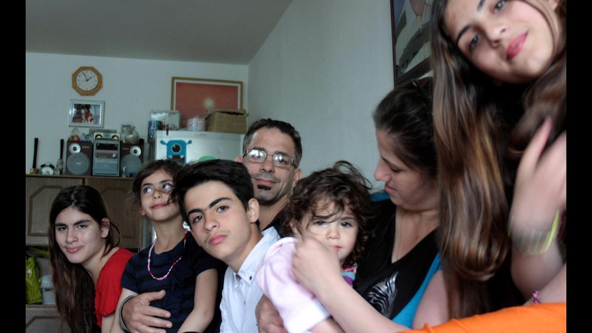 Familjen Al-Badr. Foto: Josefin Patzauer/Sveriges Radio