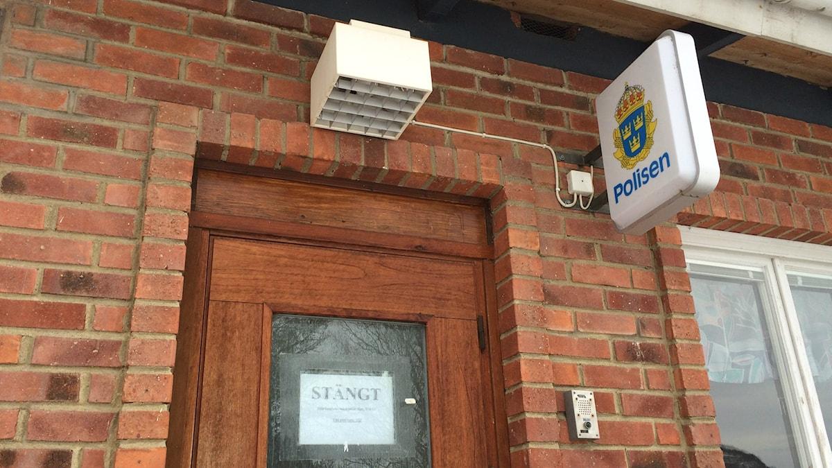 Stängt för gott på polisstationen i Hammarstrand.