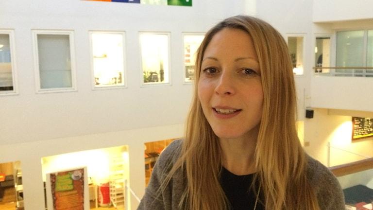 Madeleine Eriksson, kulturgeograf vid Umeå univeristet. Foto: Agneta Johansson/Sveriges Radio.