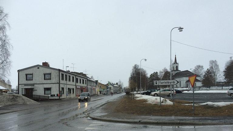 Storgatan i Malå.