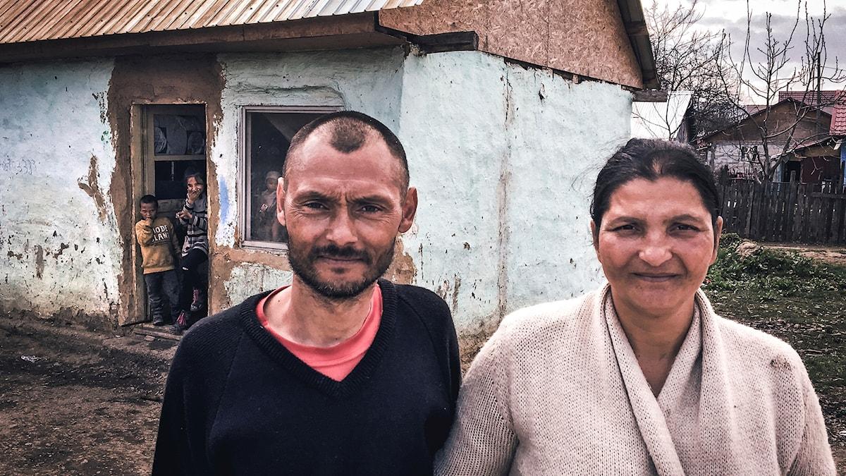 Bogdan och hans familj i Rumänien