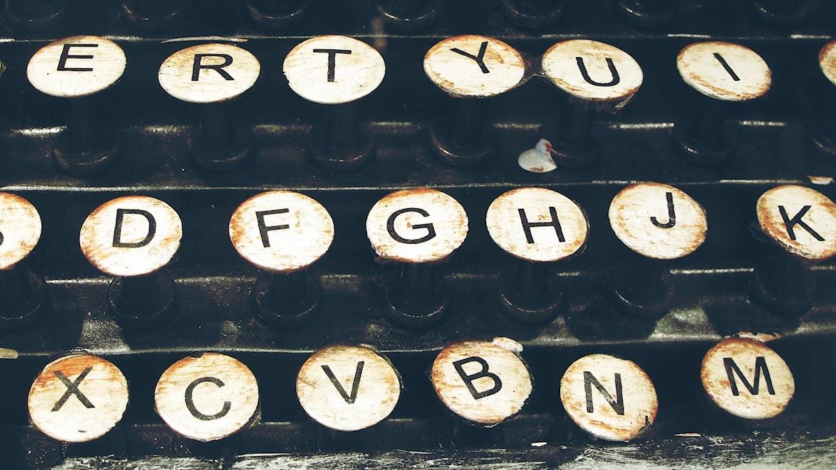 Bokstäver från en skrivmaskin