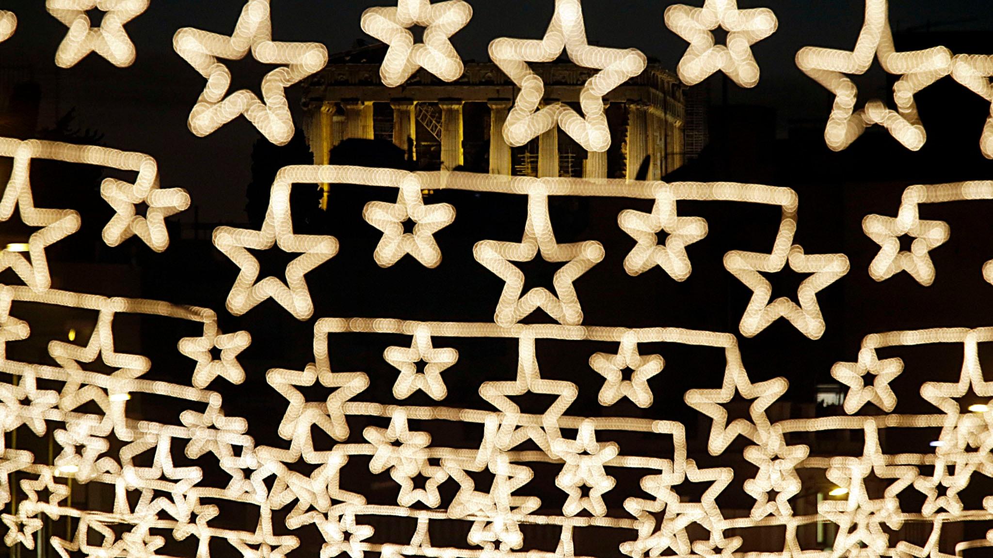 Julbelysning i form av stjärnor.