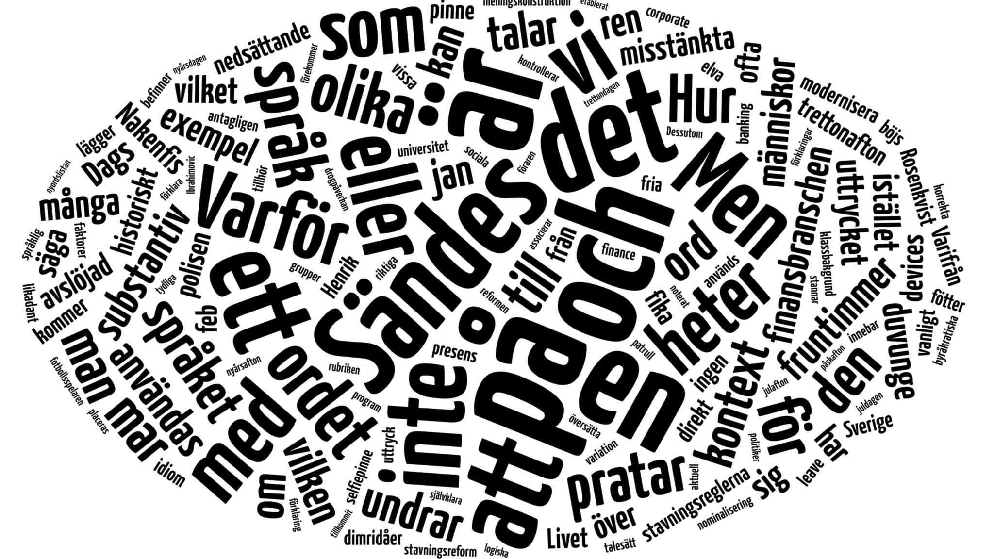 Hur många ord finns det i svenska språket  5 maj 2015 kl 13.35 - Språket  7acebf5b91d20