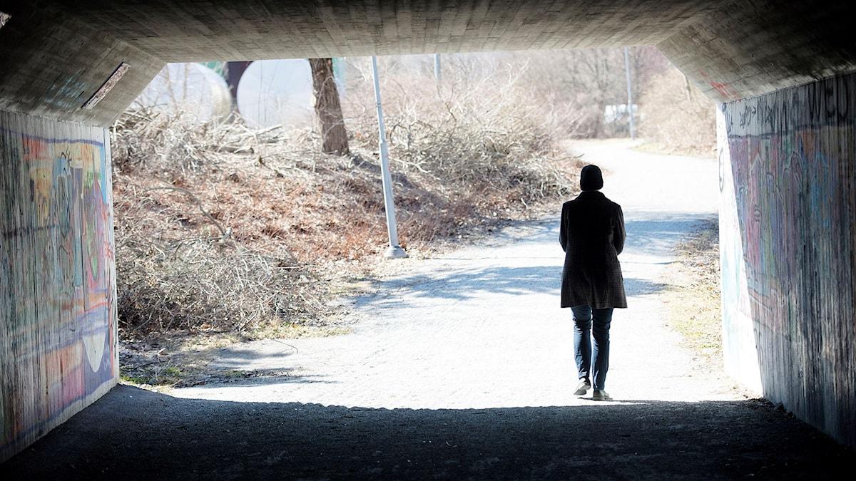 En ensam person