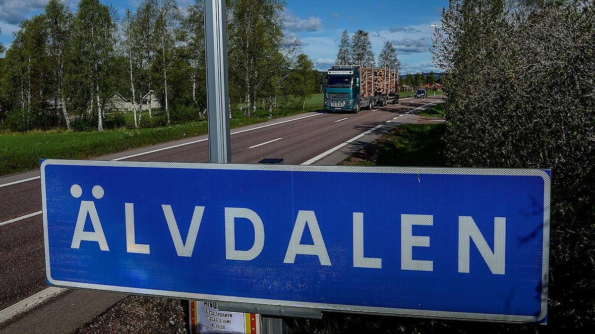 Skylt från Älvdalen